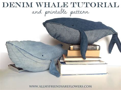 Jeans Whale Pattern | all my friends are flowers denim whale tutorial and