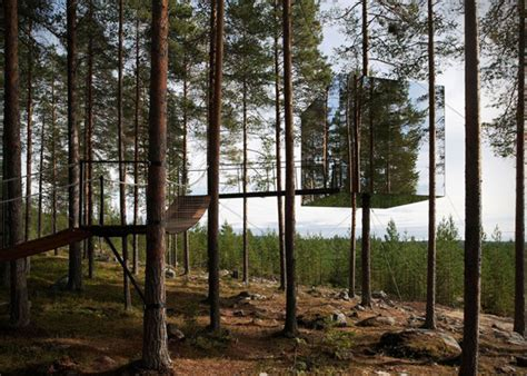 the treehotel in sweden for nature lovers 171 twistedsifter mirrorcube tree hotel in sweden hiconsumption