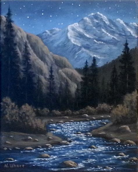acrylic painting mountains original acrylic painting of a in the colorado