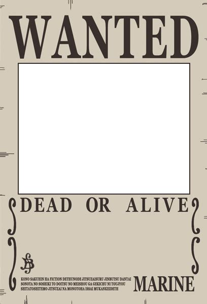 wanted pirate poster template crunchyroll groups one