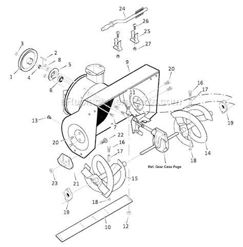 murray snowblower parts diagram murray 1695566 parts list and diagram 2008