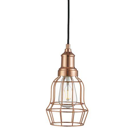 cage lighting pendants st6847cu copper cage pendant national lighting