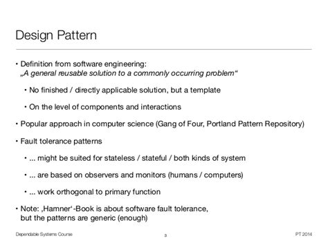 repository pattern gang of four dependable systems fault tolerance patterns 4 16