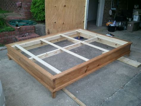 How To Make A Platform Bed Frame With Storage Woodwork How To Build A Size Platform Bed Pdf Plans