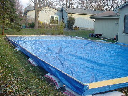 backyard ice rink tarp tim smith s backyard rink howard s corner of the web