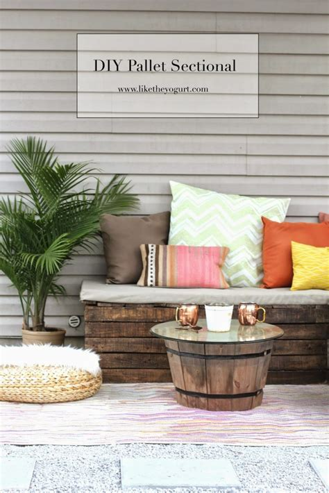 diy outdoor sofa sectional diy pallet sectional for outdoor furniture like the yogurt
