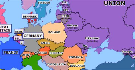 reunification of germany | historical atlas of europe (3