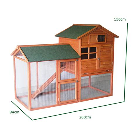 Rabbit Hutch Ramp Large Rabbit Hutch And Run With Cover 7ft Wooden Pet House