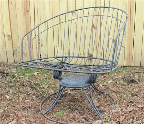 homecrest barrel swivel rocker mid century patio