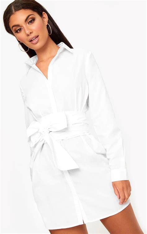 White Shirt Dress by Shirt Dresses S Shirt Dress Prettylittlething