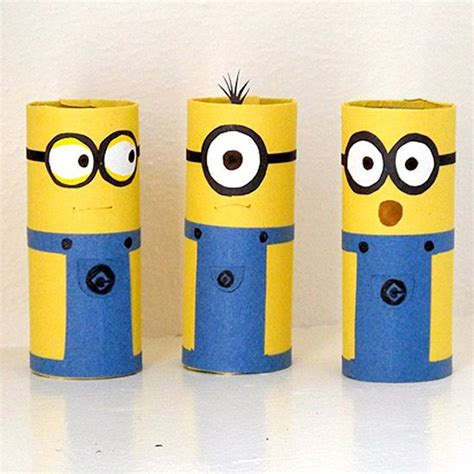 How To Make A Minion Out Of Construction Paper - turn ordinary cardboard into adorable minions using