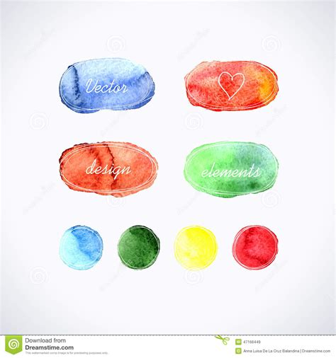 design elements watercolor watercolor design elements stock vector image 47166449