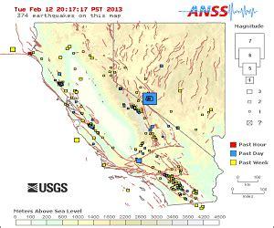 earthquakes near nevada california state line