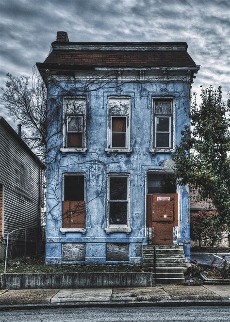 we buy houses st louis abandoned blue house north st louis photograph by dylan murphy