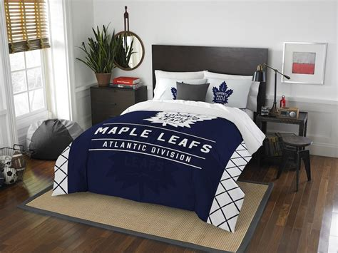 nhl toronto maple leafs queen comforter with 2 shams buy