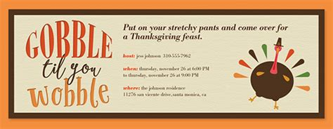 Free Online Thanksgiving Dinner Invitations Evite Com Free Thanksgiving Invitation Templates