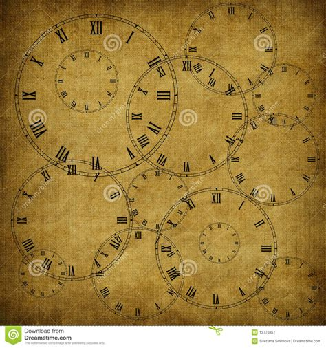 How To Make A Clock With Paper - vintage card from paper and clock royalty free stock