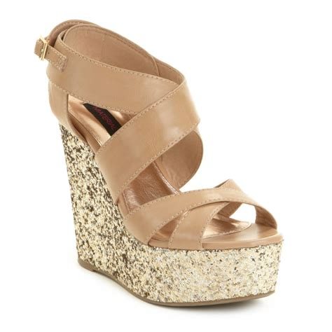 blush wedge sandals material worship wedge sandals in blush lyst