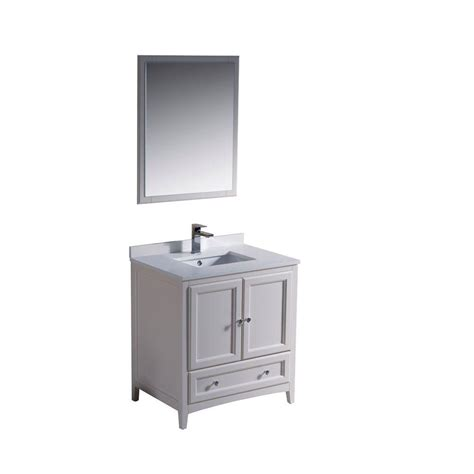 Oxford Vanity by Fresca Oxford 30 In Vanity In Antique White With Ceramic
