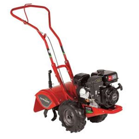 earthquake 212cc tiller rear tine crt with side shields