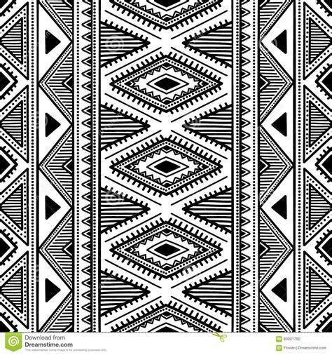 Etnic Black seamless ethnic pattern black and white vector