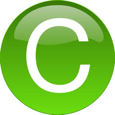c green green c clip at clker vector clip royalty free domain