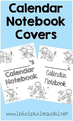 printable calendar cover page 1000 images about homeschool kindergarten on pinterest