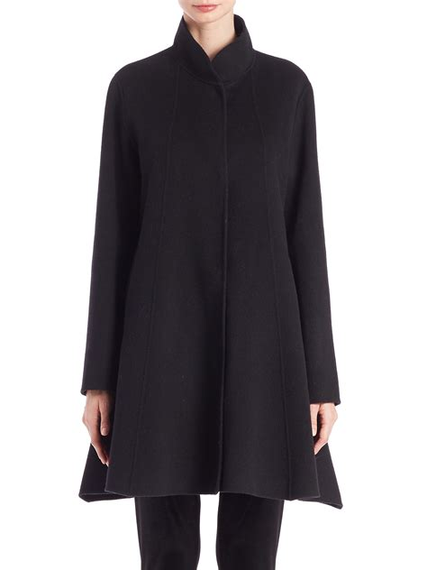 swing jacket eileen fisher double faced swing jacket in black lyst