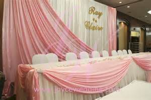 wedding backdrop name pink and white backdrop table joyce wedding services