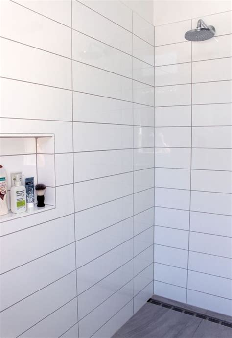 tile shower ideas studio design gallery best design - White Rectangular Tiles Bathroom