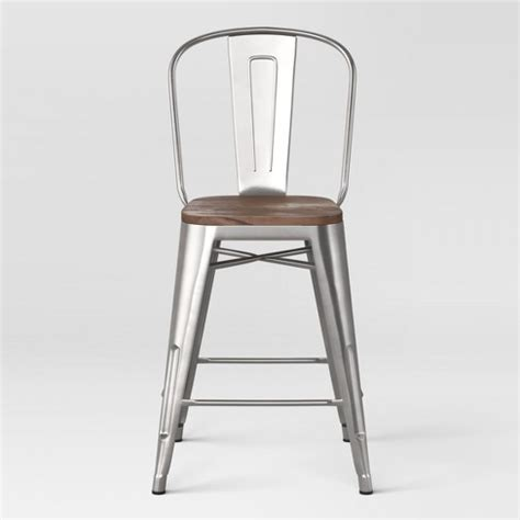 Seat Counter Stools 24 by Carlisle 24 Quot Counter Stool With Wood Seat Threshold Target