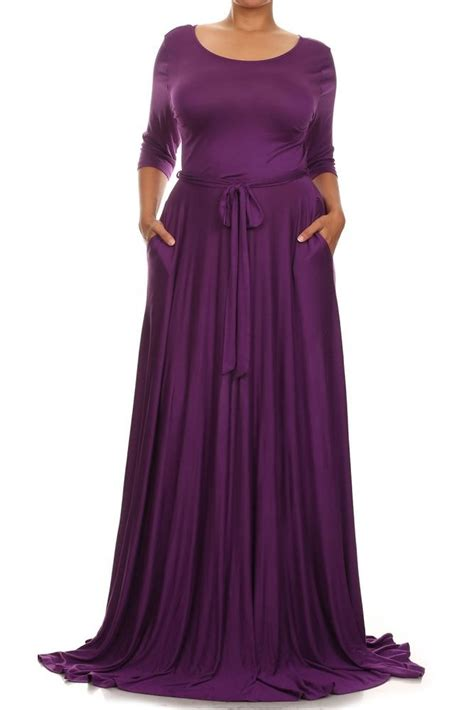 plus size purple rayon jersey sweep x skirt maxi