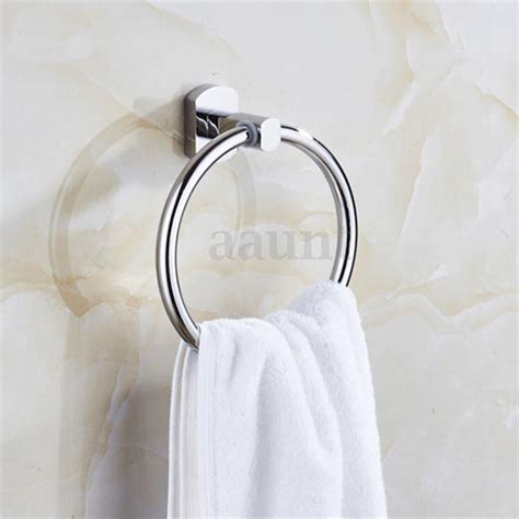 Bathroom Towel Holders Accessories Sliver Wall Mounted Towel Ring Towel Rack Holder Accessories For Bathroom Ebay