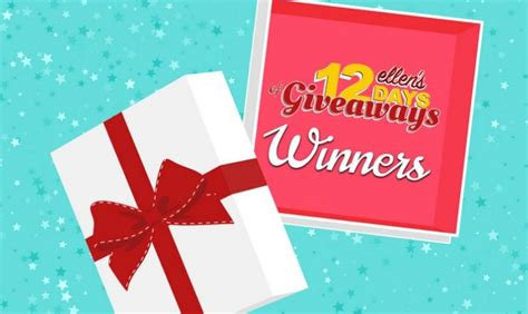 Ellen Giveaways 2017 - ellen s 12 days of giveaways 2017 winners announced
