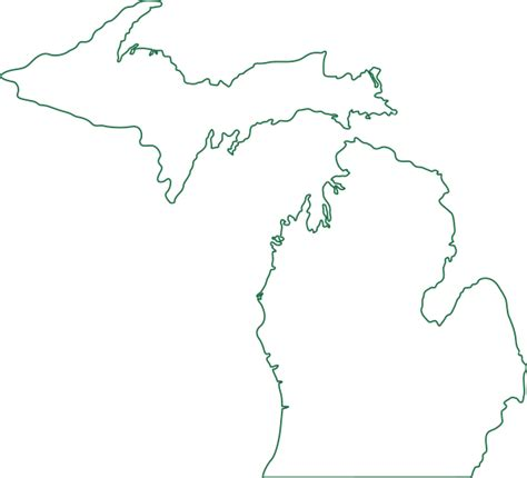 template of michigan michigan map outline clip at clker vector clip royalty free domain