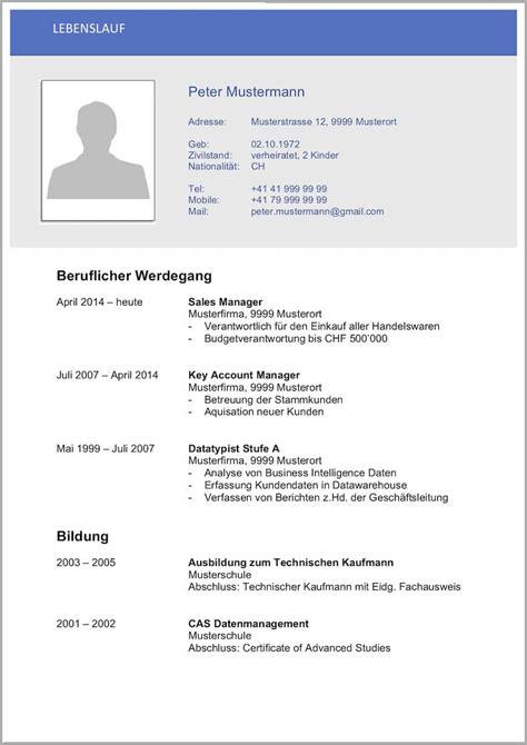 Lebenslauf Vorlage Schweiz by K 252 Ndigungsschreiben Arbeitnehmer Word Vorlage