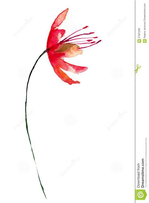 fiore stilizzato fiore rosso stilizzato illustrazione di stock immagine di