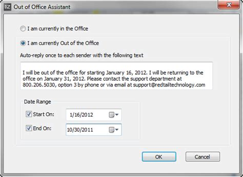 Outlook Set Out Of Office by Best Photos Of Out Of Office Assistant Outlook 2010 How