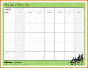 Weekly Schedule Calendar Template by 7 Family Weekly Calendar Template Financial Statement Form