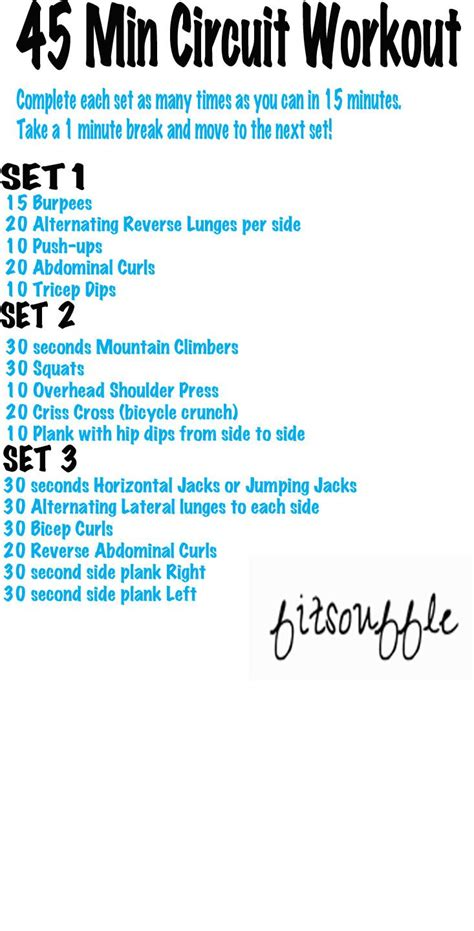 25 best ideas about 45 minute workout on