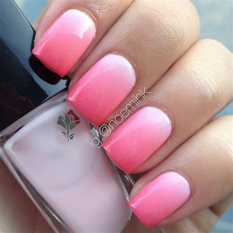 ombre nail art tutorial using acrylic paint pink ombr 233 nail art by noemihk nailpolis museum of nail art