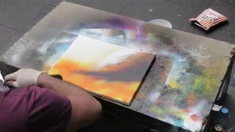 spray painting edinburgh artist in edinburgh scotland makes beautiful