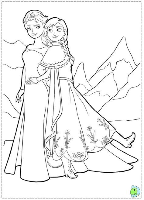 frozen disney princess coloring pages