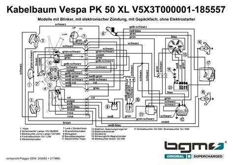complete wiring loom vespa vespa pk 50 xl v5x3t000001