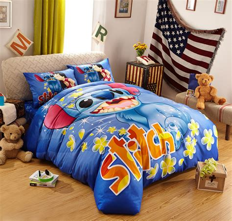 lilo and stitch bed set lilo and stitch bedding queen size kids bed set 100 cotton bedclothes cartoon quilt