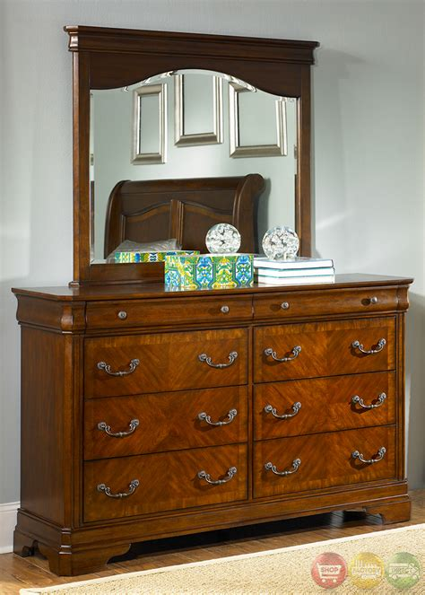 alexandria traditional autumn brown sleigh bedroom set