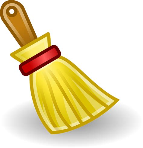 clean emoji wipe clean besom broom brush icon cleaning public