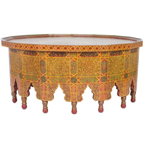 Moroccan Coffee Table by Vintage Large Decorated Moroccan Cocktail Or Coffee
