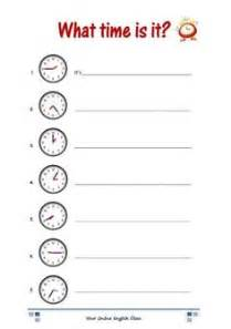 telling the time worksheet islcollective telling