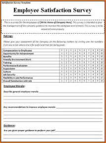 Employee Satisfaction Survey Template Word doc 585934 employee satisfaction survey templates 4 free